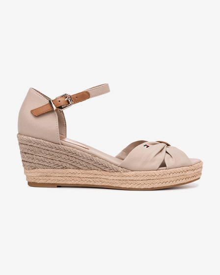 Tommy Hilfiger Basic Opened Toe Mid Wedge Wedges