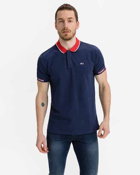 Tommy Jeans Detail Rib Jaquard Polo T-shirt