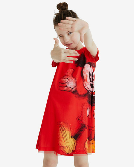 Desigual Red Kids Dress